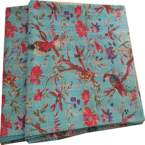 Indian Sari Quilts by Sari Indian Quilt Kantha Quilt Quilted Bedspreads Throws