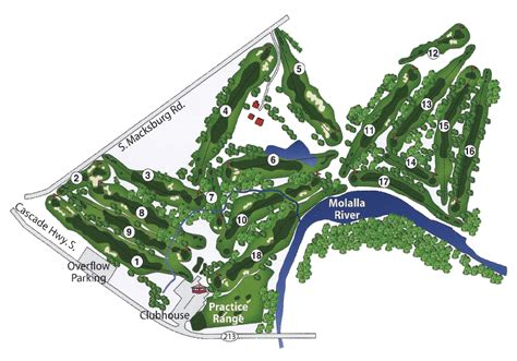 map of oregon golf courses mollala golf club mollala oregon golf course