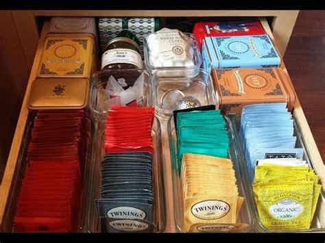 tea organization tea drawer organization youtube