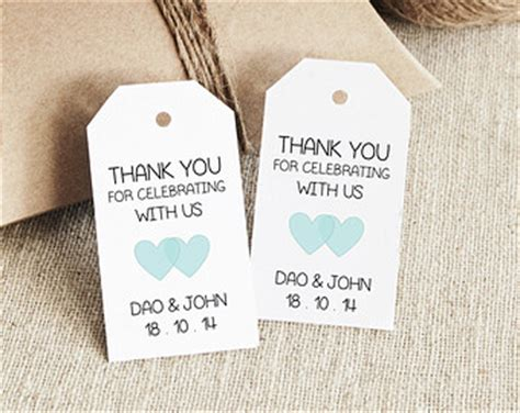 Favor Tag Template Printable Small Double Heart Design Wedding Favor Tags Template