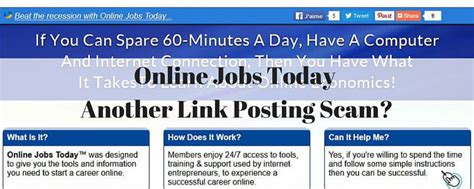 online jobs today is this another link posting scam - Work From Home Online Jobs Frauds