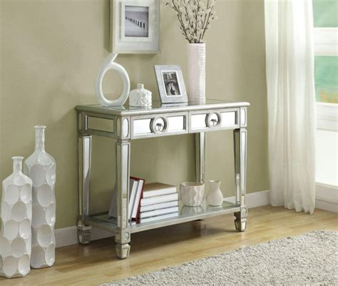 mirrored bedroom furniture canada monarch specialties console table 38 quot l brushed silver