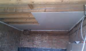 replace ceiling plasterboard with new one and skim per sqm
