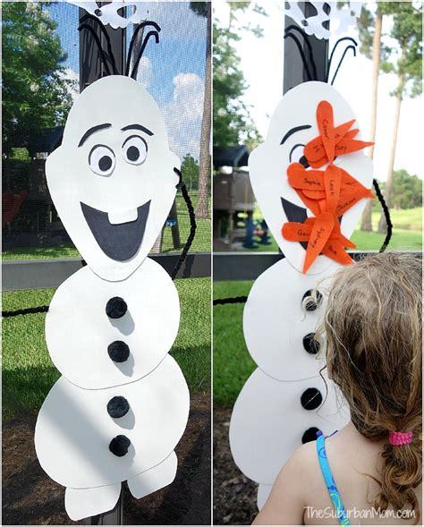 printable olaf birthday decorations frozen birthday party decorations food games printables