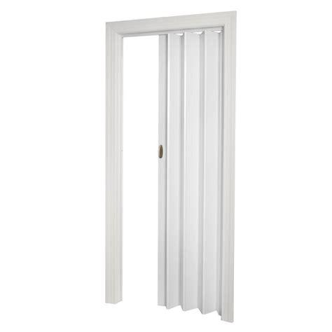 Accordian Closet Doors Spectrum 32 In X 80 In Fusion Vinyl White Accordion Door Prfu3280wh The Home Depot
