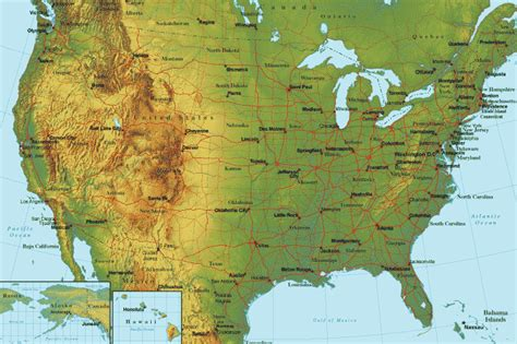 map usa states terrain maps united states map terrain