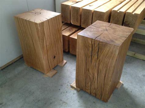 solid wood pedestal side table solid oak side tables
