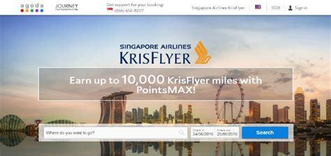 agoda krisflyer agoda pointsmax multiply your miles and points