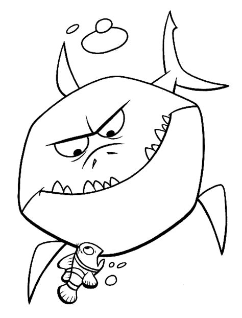 funny shark coloring page finding nemo colouring google search art painting