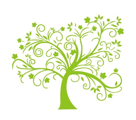 Abstract Green Tree Vector Illustration Free Vector Graphics All Free Web Resources For Logo With Abstract Tree Vector Free