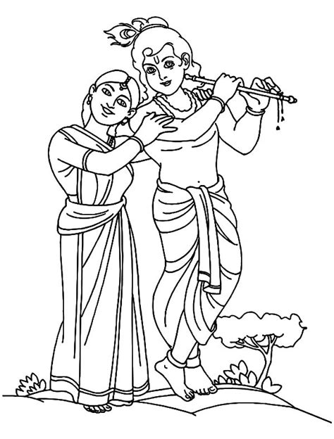pictures lord radha krishna coloring pictures drawing