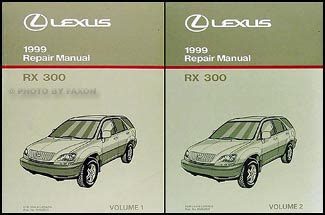 vehicle repair manual 1999 lexus rx electronic throttle control 1999 lexus rx 300 wiring diagram manual original