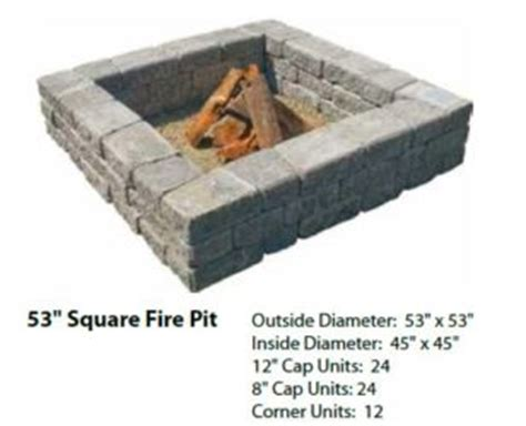 square pit kit pits materials
