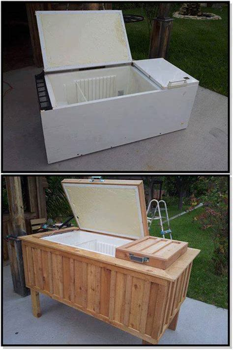 fridge into patio cooler diy cozy home