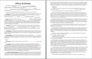 commercial sublease agreement template office sublease agreement template microsoft office