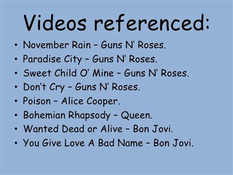 download mp3 guns n roses don t cry conventions of a rock video