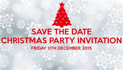 save the date christmas party invitation friday 11th