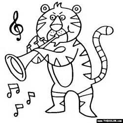 Tiger Trumpet Coloring Page  Color sketch template