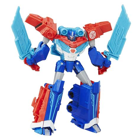 Robot Transformers Optimus Prime Robots In Disguise Power Surge Optimus Prime And
