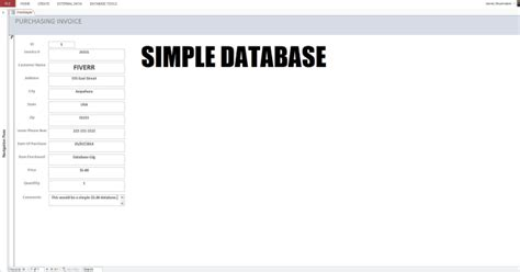 simple database create you a microsoft access database by newworksolution