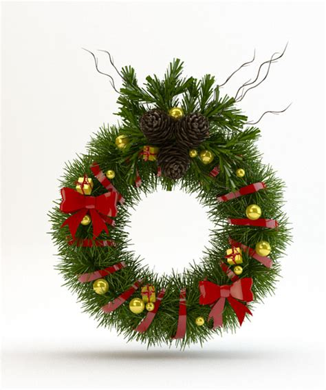3d christmas door decoration 3d models door decoration 3docean
