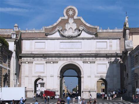 porta popolo piazza popolo romainteractive