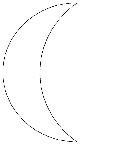 printable moon shapes printable moon simple shapes coloring pages