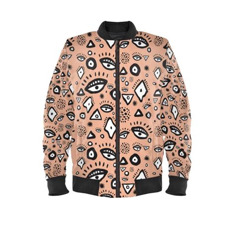 abstract pattern denim jacket tribal abstract pattern bomber jacket