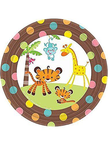 Monkey Baby Shower Plates by Fisher Price 7 Quot Dessert Plates Baby Shower Monkey Jungle