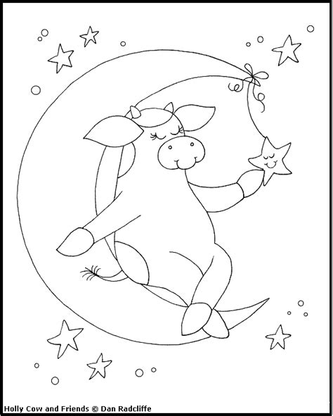 cow jumping coloring page cow jumping over moon coloring coloring pages