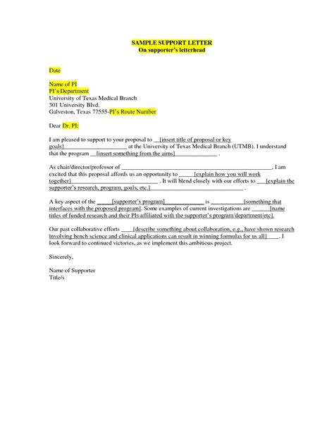 A Support Letter Template How To Write A Parole Letter Articleezinedirectory