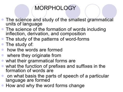 design language definition morphology