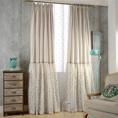 beige living room curtains beige embroidery linen polka dots custom living room curtains