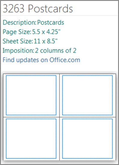 microsoft word template 4 cards to a page make one or two sided postcards in publisher publisher
