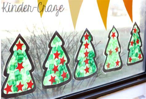 window paper decorations tissue paper tree craft window decorations
