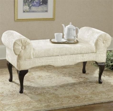 traditional bedroom benches rose storage bench ivory traditional upholstered benches by through the country