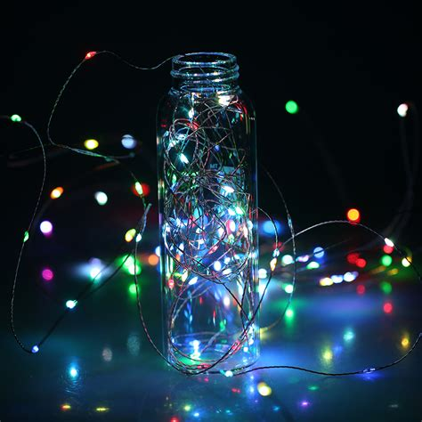15m 150led copper wire fairy string lights rgb color flash