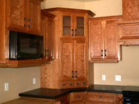 What To Do With Corner Kitchen Cabinets by Figured Ropey Cherry Kitchen