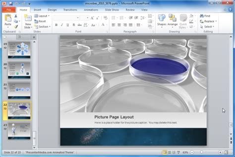 Animated Microbes Template For Powerpoint Presentations Eye Catching Powerpoint Templates