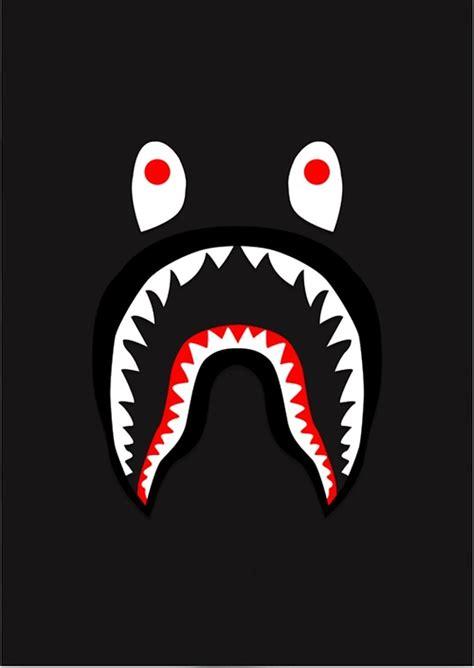 Tshirt Bape Shark Bape quot bape shark pattern merchandise quot posters by mcdaniel