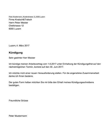 Vorlage Kündigung Arbeitsvertrag Mit Resturlaub K 252 Ndigung Arbeitsvertrag Muster Vorlage Ch