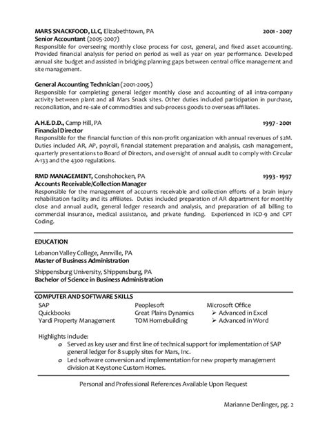 Fixed Assets Manager Sle Resume by Mdenlinger Resume 2014