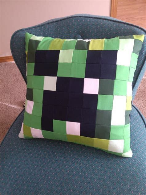 Minecraft Pillow Pattern by Minecraft Creeper By Existitchialism Sewing Pattern