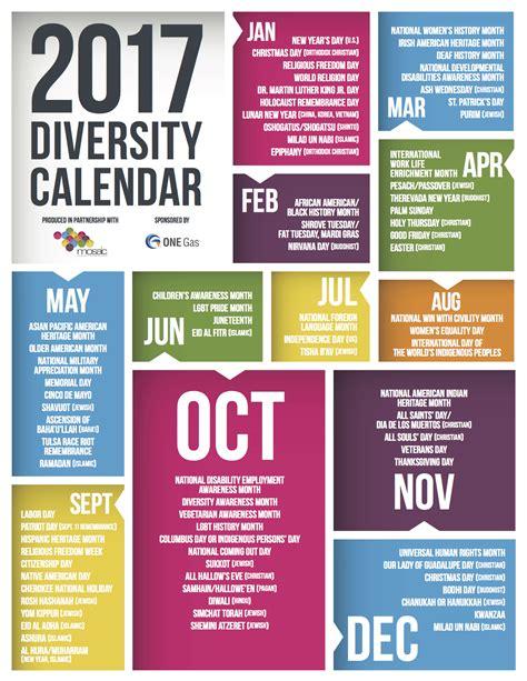 Diversity Calendar Build Your Mosaic