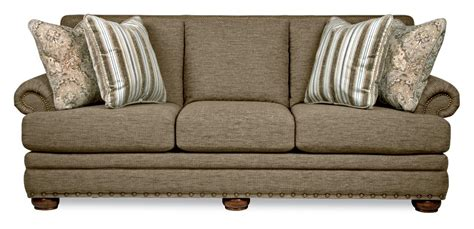La Upholstery by Traditional Sofa With Comfort Cushions And Two Sizes
