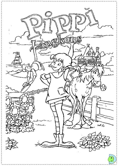 Pippi Longstocking Coloring Pages pipi longstocking coloring pages