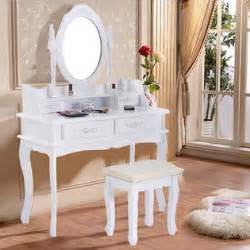 Makeup Vanity Table Kmart Australia Goplus White Vanity Jewelry Makeup Dressing Table Set W