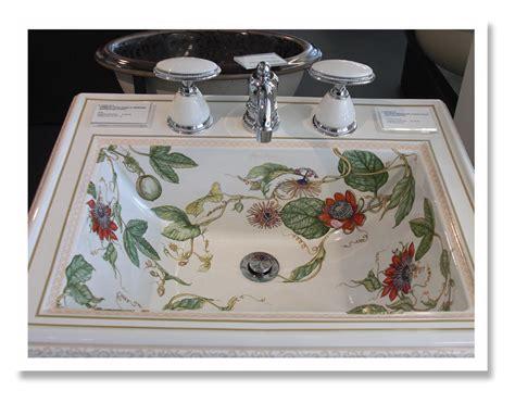 hand painted bathroom sinks virtual tour kohler design center the impatient gardener