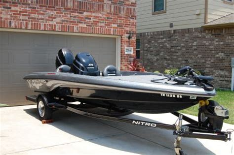 bass boat nitro x4 2009 nitro x4 fishing boat for sale in league city tx