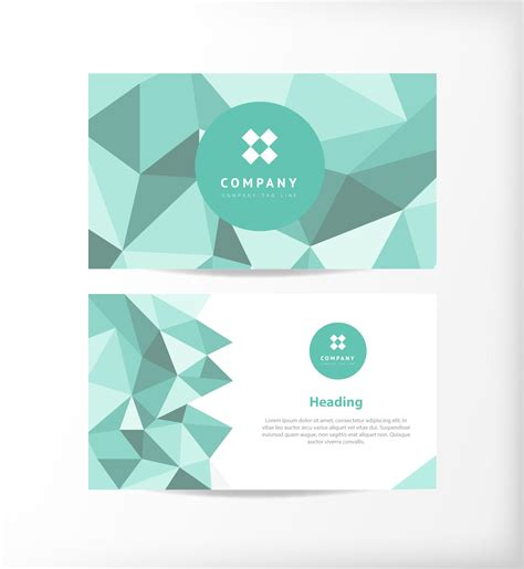 business card templates in vector polygon business card free vector free vectors ui